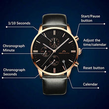 Load image into Gallery viewer, 0135M | Quartz Men Watch | Leather Band