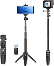 Load image into Gallery viewer, Selfie Stick, 40 inch Extendable Selfie Stick Tripod,Phone Tripod with Wireless Remote Shutter Compatible with iPhone 11 11 pro Xs Max Xr X 8Plus 7, Android, Samsung Galaxy S20 S10,Gopro and More