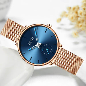 0124C | Quartz Women Watch | Mesh Band
