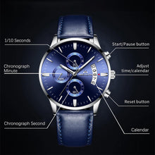 Load image into Gallery viewer, 8008M | Quartz Men Watch | Leather Band