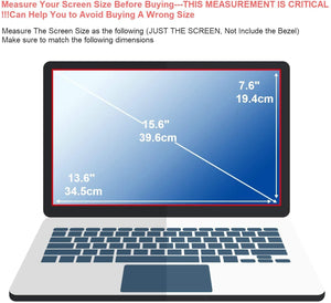 [2PCS Pack] 15.6-inch Laptop Crystal Clear Screen Protector, Notebook Computer Screen Guard Protector Compatible with HP/DELL/Asus/Acer/Sony/Samsung/Lenovo/Toshiba etc, Display 16:9 (2-Pieces/Pack)