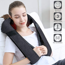 Load image into Gallery viewer, Back Massager, Shiatsu Back Neck Massager with Heat, Electric Shoulder Massager, Kneading Massage Pillow for Neck, Back, Shoulder, Foot, Leg, Muscle Pain Relief, Home,Office,Car Use - Christmas Gifts