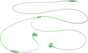 Biijok In-Ear Wired Headphones Earbuds with Microphone, Green