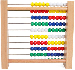 NA Preschool Number Learning Abacus Classic Wooden Toy Developmental Toy Brightly-Colored Wooden Beads 8 Extension Activities Great Gift for Girls and Boys Best for 3 4 and 5 Year Olds