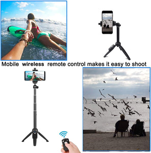 Selfie Stick, 40 inch Extendable Selfie Stick Tripod,Phone Tripod with Wireless Remote Shutter Compatible with iPhone 11 11 pro Xs Max Xr X 8Plus 7, Android, Samsung Galaxy S20 S10,Gopro and More