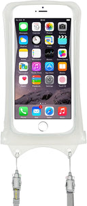 Oilily 100% Waterproof Floating Smart Phone Case & Money Pouch, Fits All Phones, Dual Layer Shock Absorbing, Includes Neck Strap (White)