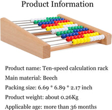 Load image into Gallery viewer, NA Preschool Number Learning Abacus Classic Wooden Toy Developmental Toy Brightly-Colored Wooden Beads 8 Extension Activities Great Gift for Girls and Boys Best for 3 4 and 5 Year Olds