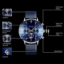 Load image into Gallery viewer, 8073C | Quartz Men Watch | Mesh Band