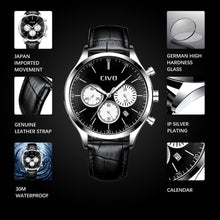 Load image into Gallery viewer, 8016C | Quartz Men Watch | Leather Band