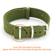 Load image into Gallery viewer, NATO Strap 4/8 Packs - 16mm 18mm 20mm 22mm 24mm Premium Ballistic Nylon Watch Bands Zulu Style with Stainless Steel Buckle