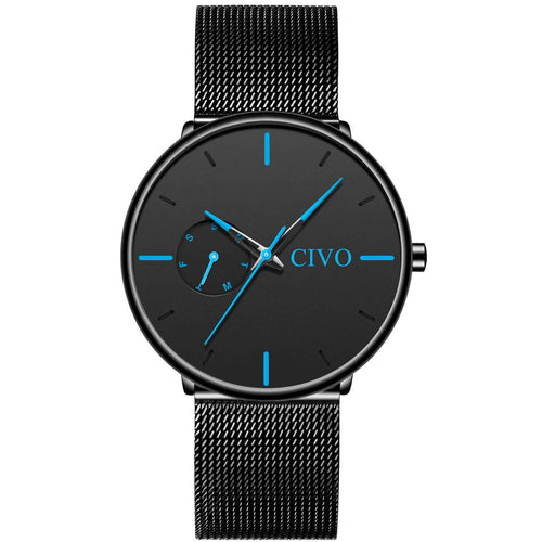 8052C | Quartz Men Watch | Mesh Band