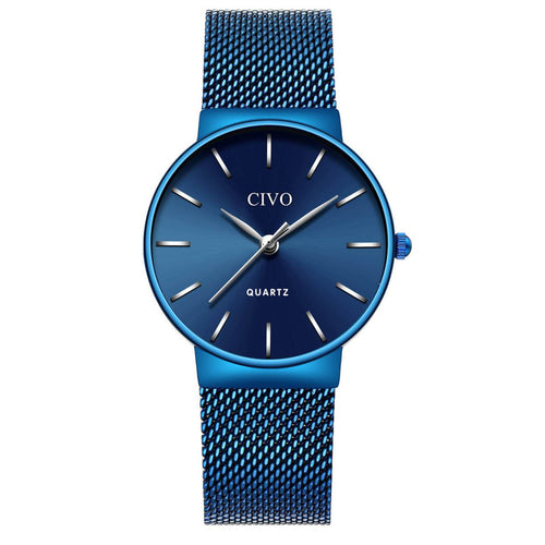 8068C | Quartz Women Watch | Mesh Band