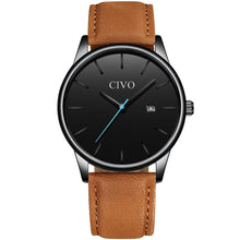 Load image into Gallery viewer, 8082C | Quartz Men Watch | Leather Band
