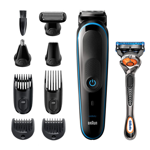 All-in-one trimmer   9-in-1 Beard Trimmer, Hair Clipper, Ear and Nose Trimmer, Body Groomer, Detail Trimmer, Rechargeable, with Gillette ProGlide Razor