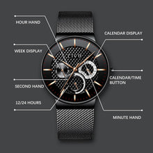 Load image into Gallery viewer, 0047C | Quartz Men Watch | Mesh Band
