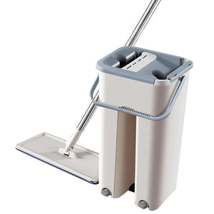 Flat Squeeze Magic Automatic Mop And Bucket Avoid Hand Washing Microfiber Cleaning Cloth Kitchen Wooden Floor Lazy Fellow Mop