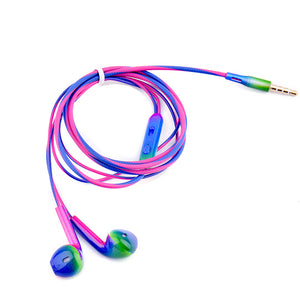 Sport Headsets Bass Gradient Wired In Ear Phones Headphone Head Phones with Mic Music Earphones for Mobile Phone Computer PC