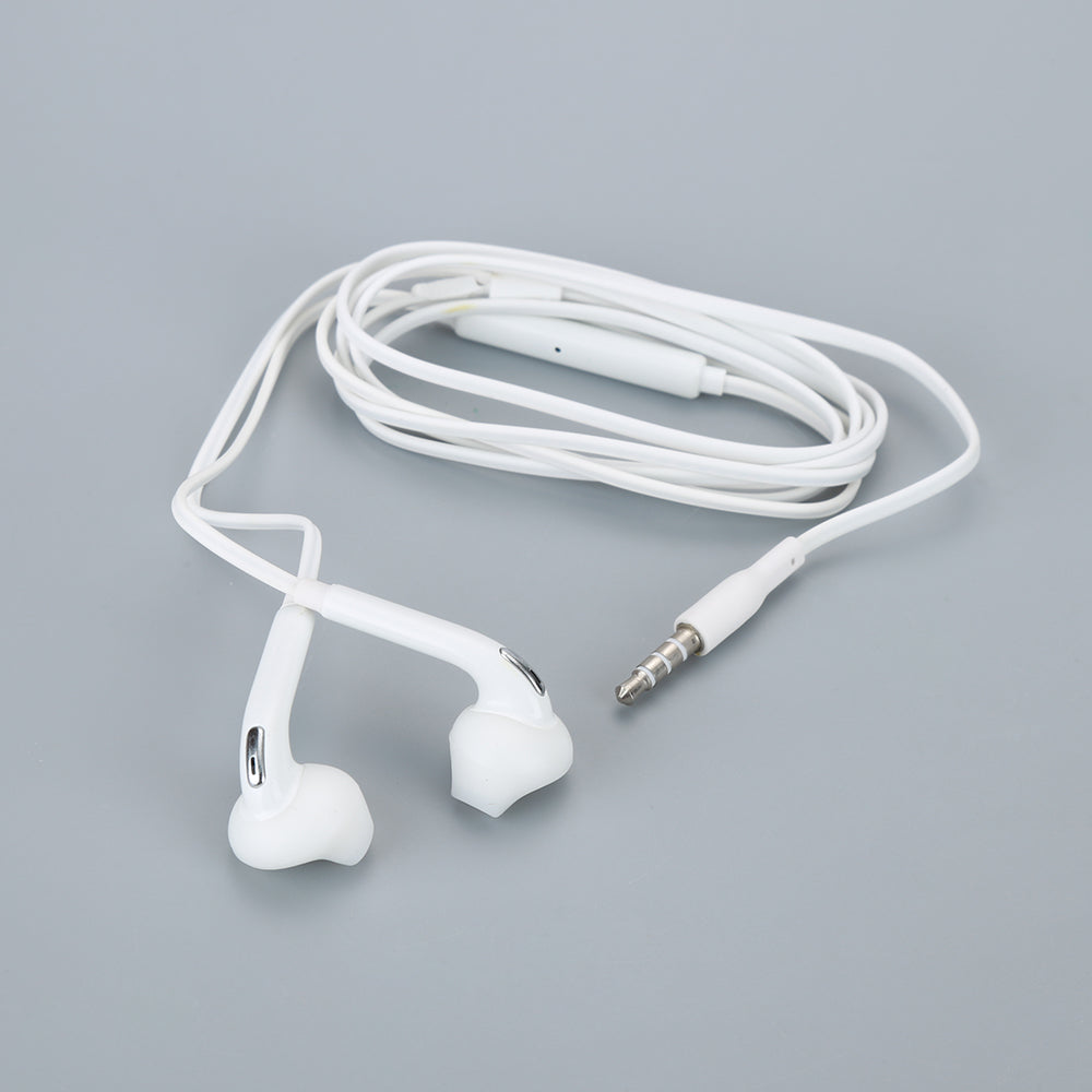 In-ear Earphone White for Samsung Galaxy S6 Wired Headset with Mic 3.5mm Jack Headphone for Cell Phone Adjustable Volume 80%