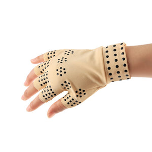 1 Pair Magnetic Therapy Fingerless Massage Gloves Arthritis Pain Relief Heal Joints Braces Supports Health Care Tool by Utostude