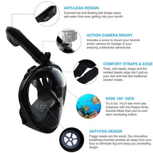 Load image into Gallery viewer, 2020 New Underwater Scuba Anti Fog Full Face Diving Mask Snorkeling Set Respiratory masks Safe and waterproof Swimming Equipment