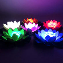 Load image into Gallery viewer, Artificial Light LED Colorful Lotus waterproof fake pond flowers Lotus Leaf Lily Water Lantern Festival Decoration Light Hot