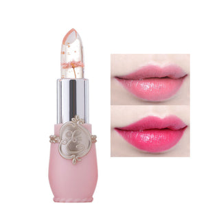 lipstick lip balm Flowers transparent color changing jelly moisturizing natural
