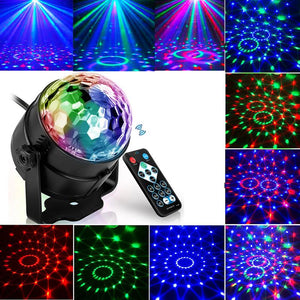 7 Color DJ Strobe Led Disco Ball 3W Sound Control Laser Projector RGB Stage Light Effect Light Music Christmas Party Dance Decor