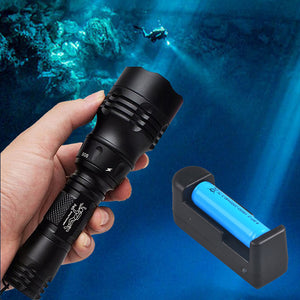 TMWT 1000LM Professional Scuba Diving Flashlight 18650 Powerful XML T6 10W LED Diving Light Lamp Underwater 100 meters