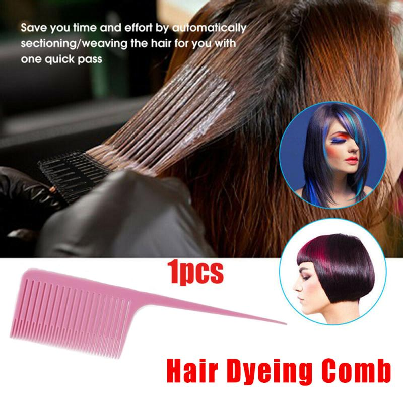 1PC Profession Dyeing Comb Weave Comb Tail Pro-hair Dyeing Comb Weaving Cutting Combs Hair Brush for Hairdressing Salon