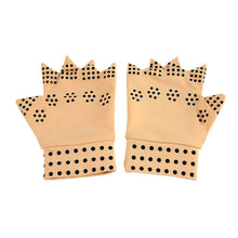 Load image into Gallery viewer, 1 Pair Magnetic Therapy Fingerless Massage Gloves Arthritis Pain Relief Heal Joints Braces Supports Health Care Tool by Utostude