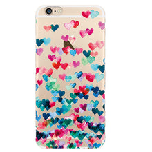 Load image into Gallery viewer, Cute Couple Love Heart Case For iPhone 7 Plus Phone Case For iPhone X XS 8 Plus 6 5 5S SE 2020 Soft Silicon Back Cover Case