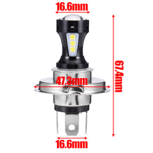 Load image into Gallery viewer, Universal 6500K Motorcycle Headlight Head Light Lamp 3030 LED Bulb Hi-Lo Beam Wireless Direct Install For Yamaha