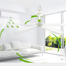 "Load image into Gallery viewer, 20W power 5 blades mini ceiling fan AC220-240V 50HZ hanging fan diamater 70cm fan 27.5"" mini Fan mosquito net fan"