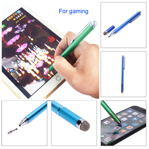 Paloxy 2in1 Capacitive Pen Touch Screen Drawing Pen Stylus with Conductive Touch Sucker Microfiber Touch Head for Tablet PC Smart Phone