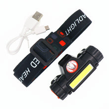 Load image into Gallery viewer, Portable Mini flashlight lantern Q5+COB led Headlamp + 1 * Built-in 18650 Battery Outdoor camping headlight