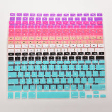 Load image into Gallery viewer, Koumys 7 Candy Colors Silicone Keyboard Cover Sticker For Macbook Air 13 Pro 13 15 17 Protector Sticker Film