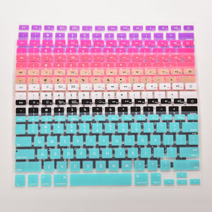 Koumys 7 Candy Colors Silicone Keyboard Cover Sticker For Macbook Air 13 Pro 13 15 17 Protector Sticker Film