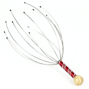 1Pcs Head Massager Neck Massage Octopus Scalp Stress Relax Spa Healing Alloy Free Shipping