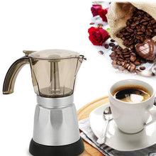 Load image into Gallery viewer, 300ml Portable Electric Coffee Maker Stainless Steel Espresso Mocha Coffee Pot Percolator Tools Filter Italian Espresso Machine