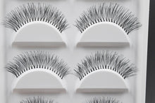 Load image into Gallery viewer, 5 Pairs Natural Black Long Sparse Cross False Eyelashes Fake Eye Lashes Extensions Makeup Tools by Tacitmeet