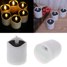 Load image into Gallery viewer, Solar Powered LED Candle Light Yellow Flicker Tea Lamp Festival Wedding Romantic Decor