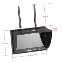 Load image into Gallery viewer, 7 inch Lcd Monitor 5.8G 40Ch Diversity Receiver Build-In Battery