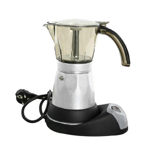 300ml Portable Electric Coffee Maker Stainless Steel Espresso Mocha Coffee Pot Percolator Tools Filter Italian Espresso Machine