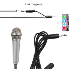 Load image into Gallery viewer, Paloca 4Color Handheld Mic Portable Mini 3.5mm Stereo Studio Microphone For Laptop PC Desktop Mic KTV Karaoke 5.5cm*1.8cm