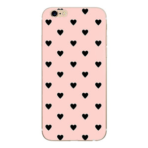 Cute Couple Love Heart Case For iPhone 7 Plus Phone Case For iPhone X XS 8 Plus 6 5 5S SE 2020 Soft Silicon Back Cover Case