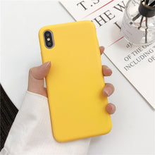 Load image into Gallery viewer, Cute Matte Solid Candy Phone Case for Iphone 11 Case 11 Pro Max Xs Max Xr Simple Silicone Case for Iphone 7 6s 8 Plus Soft Cover