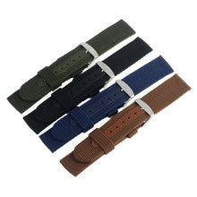 Load image into Gallery viewer, Superior 18/20mm Nylon Wrist Watch Band Strap For Watch Stainless Steel Buckle by Ownalluer