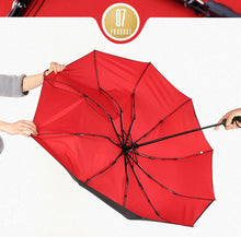 Load image into Gallery viewer, 10K Double layer Windproof Fully-automatic Umbrellas Male Women Three Folding Commercial Large Durable Frame Parasol by Budbeay