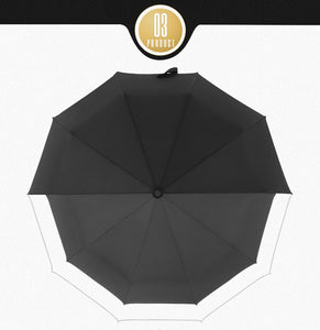10K Double layer Windproof Fully-automatic Umbrellas Male Women Three Folding Commercial Large Durable Frame Parasol by Budbeay