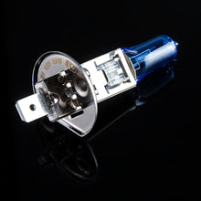 Load image into Gallery viewer, Halogen Bulb 12V 55W 5000K Dark Blue Quartz Glass Car HeadLight Lamp Super White (2 PCS)